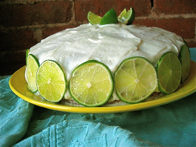 Coconut Milk and Lime Cake