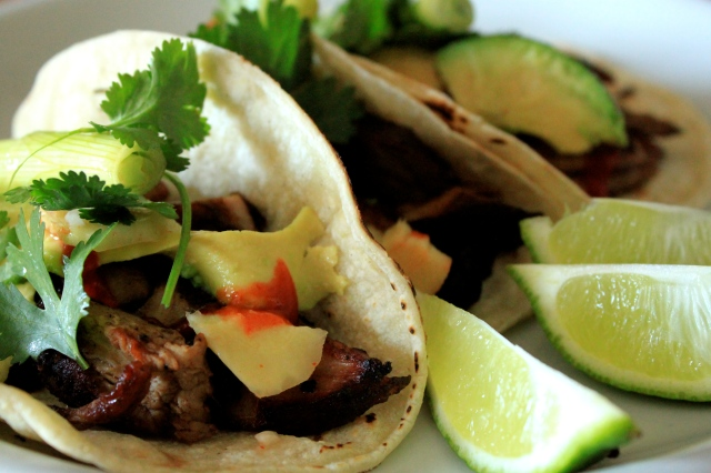 Char Siu Tacos with Scallion-Ginger Salsa