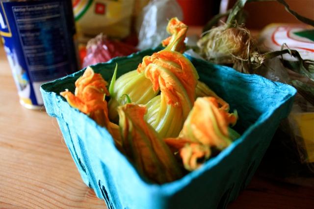 Green Market Fresh Squash Blossoms
